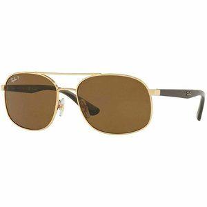 Ray-Ban Square Sunglasses W/Brown Polarize…